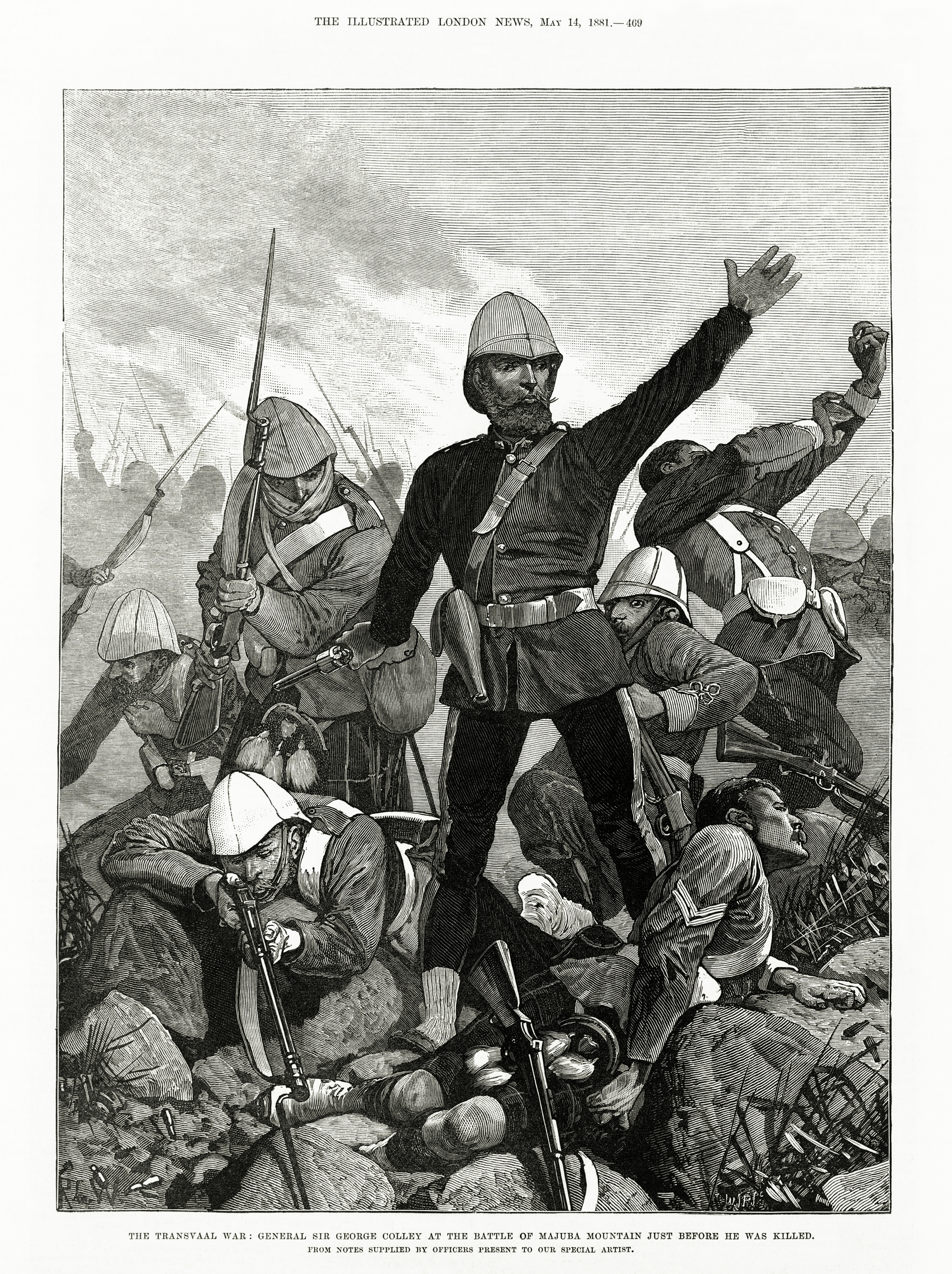 Melton_Prior_-_Illustrated_London_News_-_The_Transvaal_War_-_General_Sir_George_Colley_at_the_Battle_of_Majuba_Mountain_Just_Before_He_Was_Killed.jpg