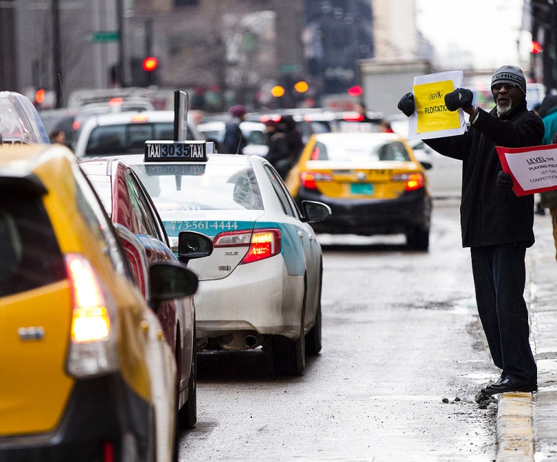 UberTaxiProtestChicago